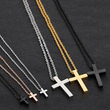 Couple Cross Necklace Men's Chain Titanium Steel Women Pendant Ladies Choker