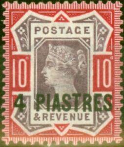 British Levant 1896 4pi on 10d Dull Purple & Carmine SG6 Fine Mtd Mint (2)