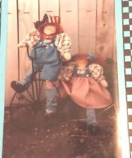 """STAR SPANGLED KIDS 14"""" Star & Spangly Patriotic Dolls Sewing Craft Pattern"""