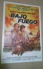 CE1 Original UNDER FIRE Nick Nolte, Joanna Cassidy, MOVIE Poster Argentina 1983