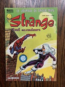 STRANGE Le Journal De Spiderman Vtg French Comic Book May 1981 No 149 Black Cat