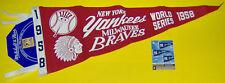 YANKEES CLASSICS MITCHELL & NESS PENNANT W/ CARD 1958 WORLD SERIES #'D /97