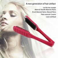 Ceramic Straightening Comb Double Sided Brush Clamp Hair Comb Hairstylig Tool JL