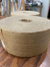 2 Rolls Reinforced Kraft Paper Gummed Tape Water Activated Brown 3 X 450