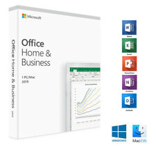Microsoft  Office Home & Business 2019  for MAC 'word,powerpoint,outlouk'