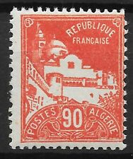 ALGERIE 90c ROUGE MOSQUEE N° 81 NEUF * GOMME TRACE CHARNIERE