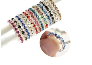 Crystal band stretch toe rings