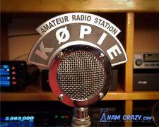 Astatic D-104 Microphone 2 Line Callsign Flag - Ham Radio-Amateur Radio-CB
