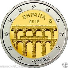 Pièce 2 euros commémorative Espagne 2016 - L'Aqueduc de Segovie - UNC