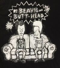 Bevis And Butt Head Small Black T Shirt 2011 Mtv Mike Judge