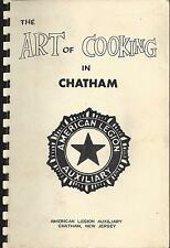 ART OF COOKING IN *CHATHAM NJ ANTIQUE *AMERICAN LEGION AUX. COOK BOOK *LOCAL ADS