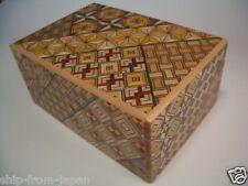 Japonesa De Madera Caja Puzzle Medio 10 paso Himitsu Bako Secret Truco Japón himitu