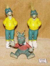 3 Henson Disney Dinosaurs Knock Off Classic 90s Squeezy Action Figures Bulk Rare
