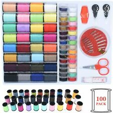 Sewing Kit 100 Premium Sewing Supplies 64 Thread Spools, Mini Sewing Accessories