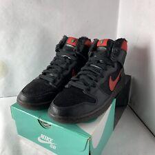 Nike SB Dunk High Pro Premium Black Gym Red Krampus 554673 006 Men's 11.5
