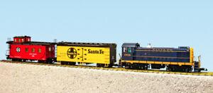 USA Trains G Scale R72401 Santa Fe S4 Diesel Freight Set READY TO RUN SET