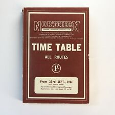 More details for northern general transport company time table all route sept 1961 + map
