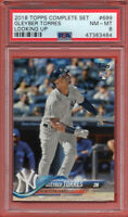 2018 Topps Series 2 #699 Gleyber Torres Rookie RC PSA 8 NM-MT New York Yankees