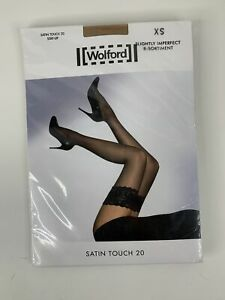 Wolford Satin Touch 20 Stay Up Thigh Highs Gobi XS NWT