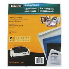 """New Fellowes 1/16"""" Gloss White Thermal Binding Covers - 10pk - Free Shipping"""