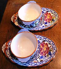 Deux déjeuners ,faienceries de Gien ,motif pivoine, années 60