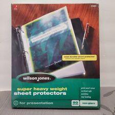 Wilson Jones Top Loading Super Heavy Sheet Protectors For Presentation 50ct