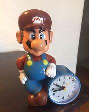 Vtg Super Mario Bros. Figural Statue Clock Nintendo RARE Perfect 80's 90's HTF!