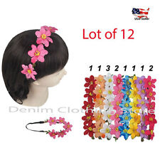 12pcs Boho Halo Flower Bridal Headband Hair Band Wrap Garland Wedding Party Lots