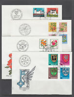 Switzerland Sc B443/B478 FDC. 1976-80 semi postals, 8 cplt sets on 8 FDCs