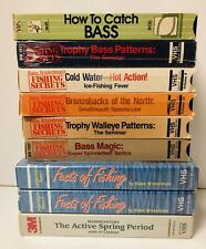 Babe Winkelman's Fishing Secrets Vhs Tapes Lot Of 9 Al Lindner Bass Walleye