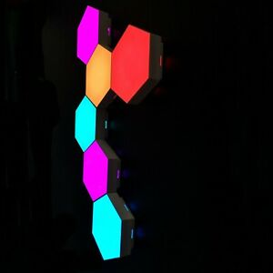 Smart LED Touch Sensitive Wall Lamp Hexagon Modular Remote Control 6 pieces