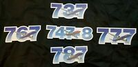Boeing Program Decal Sticker Set 737, 747-8, 767, 777 and 787 Pilot A&P Plane