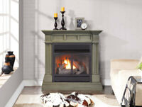 Duluth Forge Dual Fuel Ventless Gas Fireplace - 32,000 BTU, Remote Control