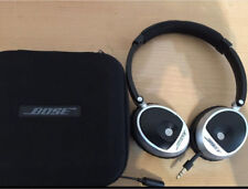 Bose OE On-Ear Headphones Black/Silver with Case and Manual - Left Speaker Inop