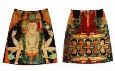 Gorgeous Vivienne Tam Iconic BUDDHA Velvet 90's Lined Skirt Wms Size 1 EXC WORN?