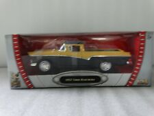 Road Legends 1957 Ford Ranchero Yellow 1:18 Scale Diecast Model Car