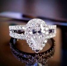1.40 Ct Pear Brilliant Cut Diamond Prong & U-Set Engagement Ring G,VVS2 GIA 14K