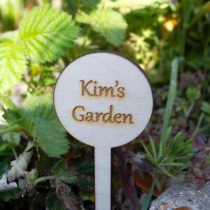 Personalised Mini Garden Sign, Vegetable Patch Marker, Gardener Gift