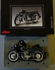 Modelo de moto BMW r25/3 negro blanco línea con banco 1:10 Schuco nuevo 655500