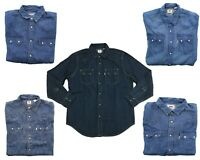 Levi's Levi Strauss Mens Sawtooth Denim Snap Button Down Western LS Shirt