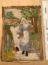 VICTORIAN or EDWARDIAN FREESTYLE EMBROIDERY: MILKMAID