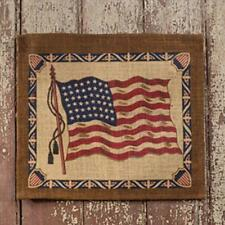 Country new rustic burlap AMERCIAN FLAG  banner / nice wall decor