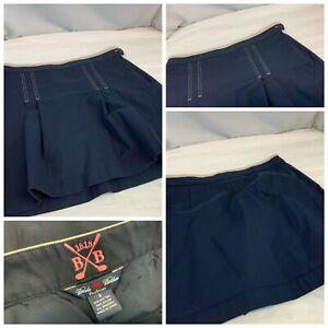 Brooks Brothers ProSport Golf Skirt Sz 4 Navy Blue Cotton Nylon Mint YGI A1-264