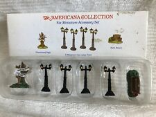 Liberty Falls Collection Accessory Set Ah50 Lamp Posts Park Bench Sign - New - M