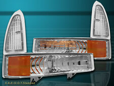 99-04 Ford Excursion F250/350 Super Duty Clear Bumper w/ Parking Corner Lights