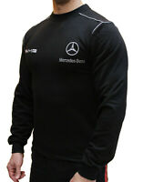 Embroidered Man T-shirt Black Mercedes Benz AMG Long Sleeves polo tshirt shirt
