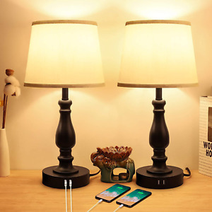 Touch Control Bedside Lamps with 2 USB Charging Ports, 3 Ways Dimmable Nightstan