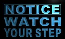 LED watch your step sign neon caution watch out light