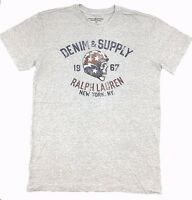 $145 Polo Ralph Lauren Men Gray America Skull Logo Crew Neck Fit T Shirt Tee S