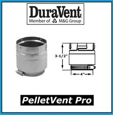 """DURAVENT PELLETVENT PRO Pipe 4"""" Diameter Appliance Adapter #4PVP-ADS NEW!"""